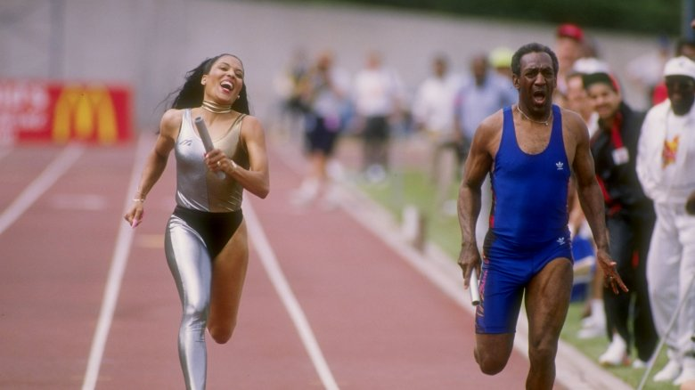 Florence Griffith-Joyner and Bill Cosby