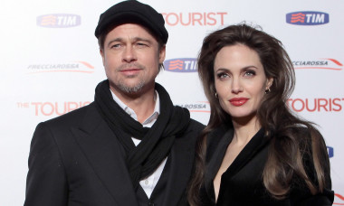 """ROME, ITALY - DECEMBER 15: Brad Pitt and Angelina Jolie attend """"The Tourist"""" premiere at The Space Cinema on December 15, 2010 in Rome, Italy. (Photo by Elisabetta Villa/Getty Images)"""