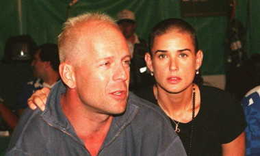 US actor Bruce Willis and wife, US actress Demi Mo