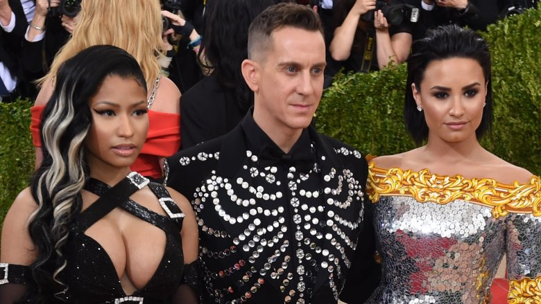 Nicki Minaj, Jeremy Scott and Demi Lovato at the 2016 Met Gala