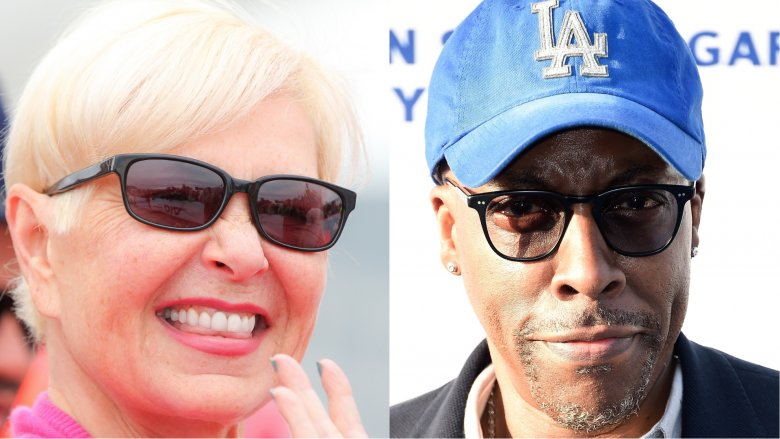 Roseanne Barr and Arsenio Hall