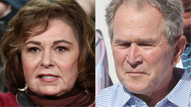 Roseanne Barr and George Bush