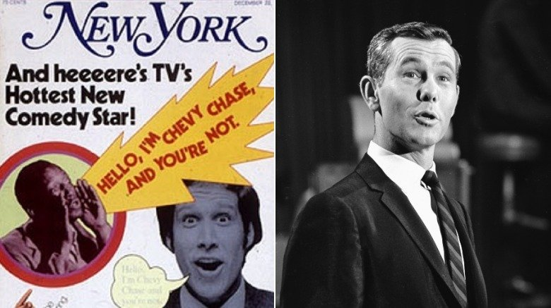 Chevy Chase New York mag cover, Johnny Carson