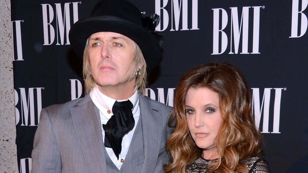 Lisa Marie Presley and Michael Lockwood at the BMI Country Awards in Nashville, Tennessee, in October 2012