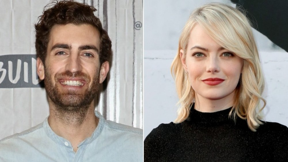 Dave McCary at the Build Series in 2017; Emma Stone at AFI's Lifetime Achievement gala