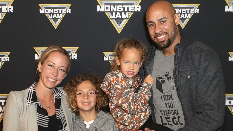 Kendra Wilkinson, Hank Baskett, and their kids