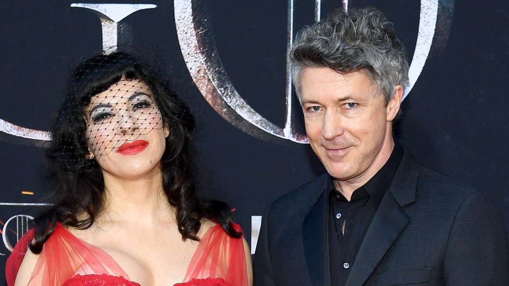 Camille O'Sullivan and Aidan Gillen at the Game of Thrones Season 8 premiere