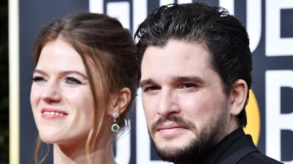 Rose Leslie and Kit Harington at the Golden Globe Awards