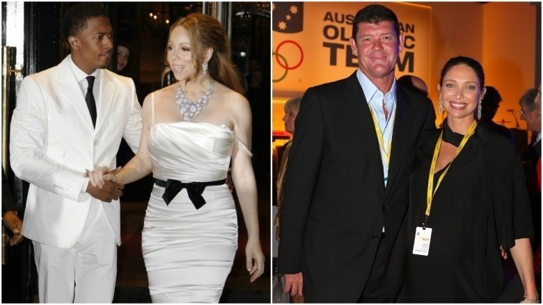 Nick Cannon and Mariah Carey, James and Erica Packer