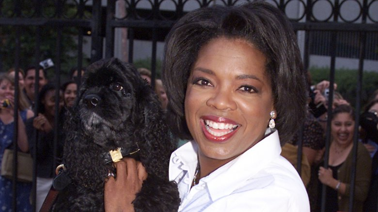 Oprah Winfrey with her dog Sophie