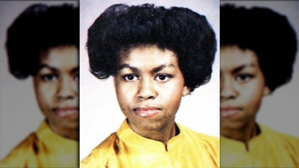 Michelle Obama's 1981 yearbook photo