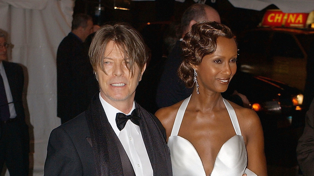 Iman and David Bowie at the 2005 Met Gala