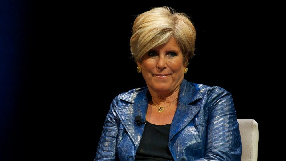 Suze Orman on a panel in 2012