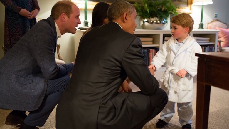 Prince William Barrack Obama Prince George