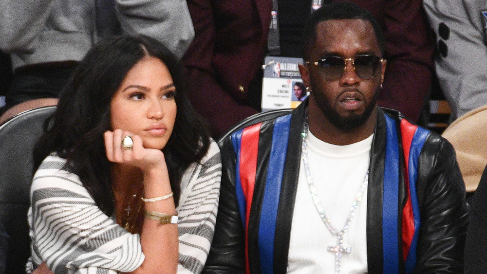 Cassie and Diddy looking bored