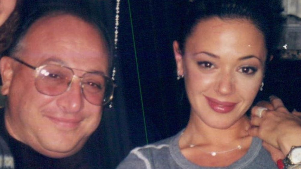 George Remini and Leah Remini in a family photo
