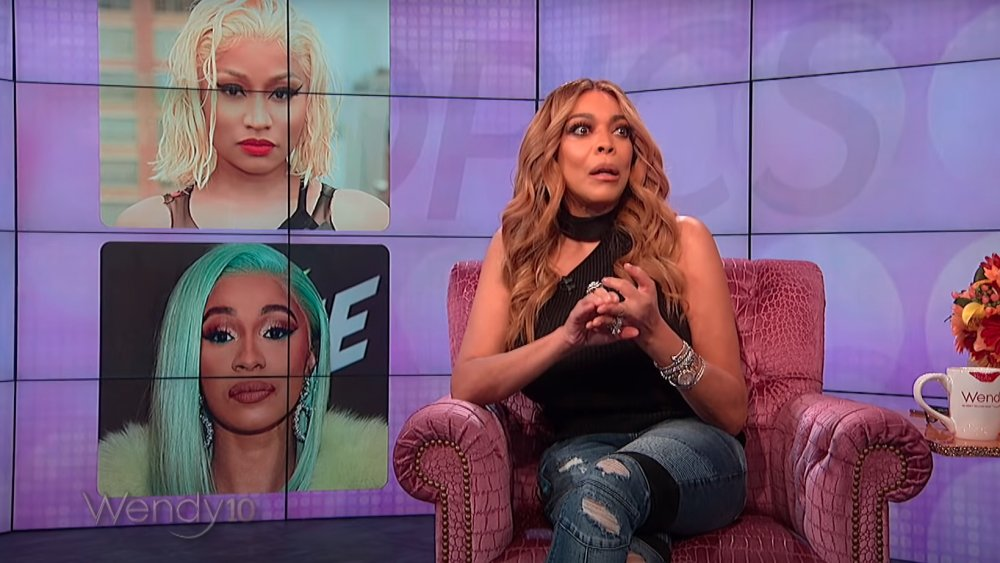 Wendy Williams on her show in February 2018