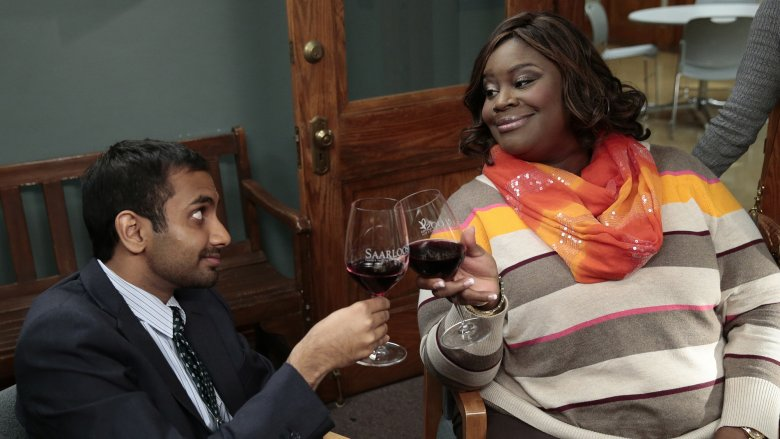 Retta and Aziz Ansari in Parks and Recreation