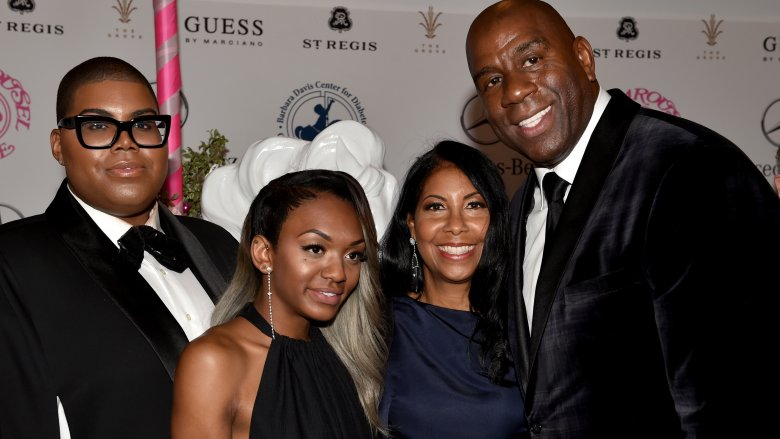 EJ, Elisa, Cookie and Magic Johnson