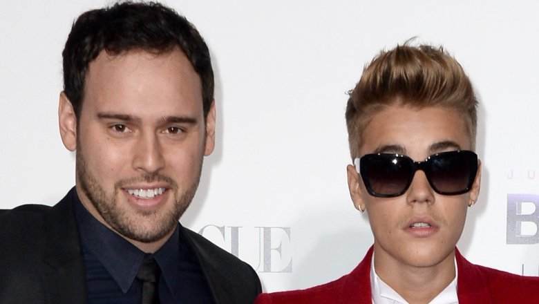 Scooter Braun and Justin Bieber