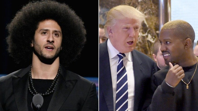 Colin Kaepernick, Donald Trump, Kanye West
