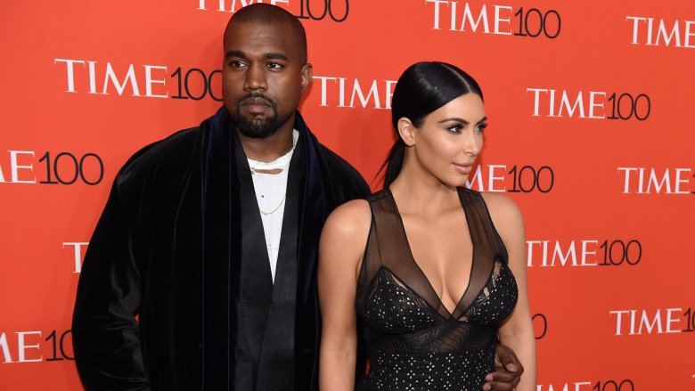 Kanye West and Kim Kardashian at the Time 100 Gala