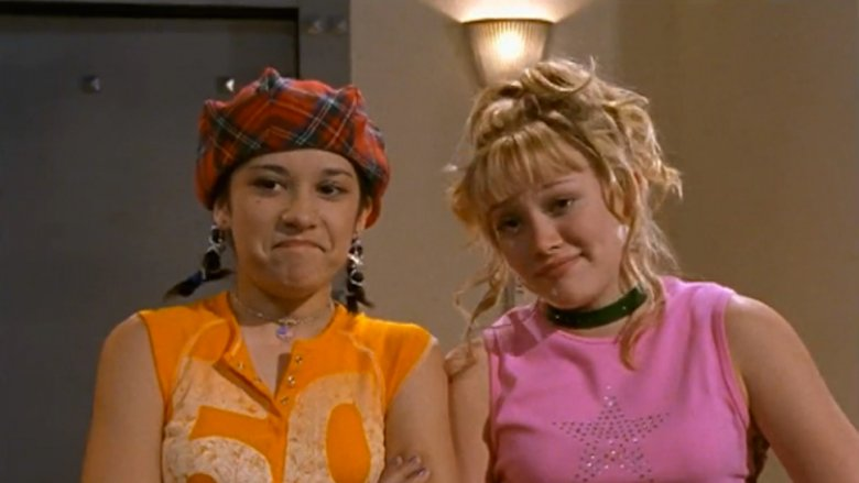 Hilary Duff, Lalaine Vergara-Paras on Lizzie McGuire