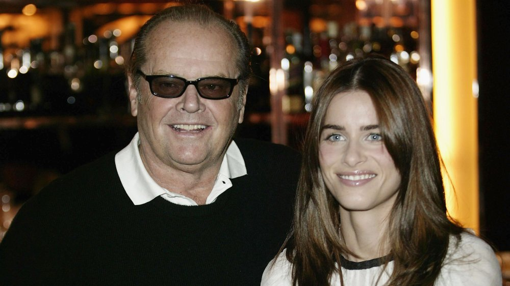 Jack Nicholson, and Amanda Peet at a promotional event for Something's Gotta Give